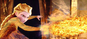 Fire Elsa figthing