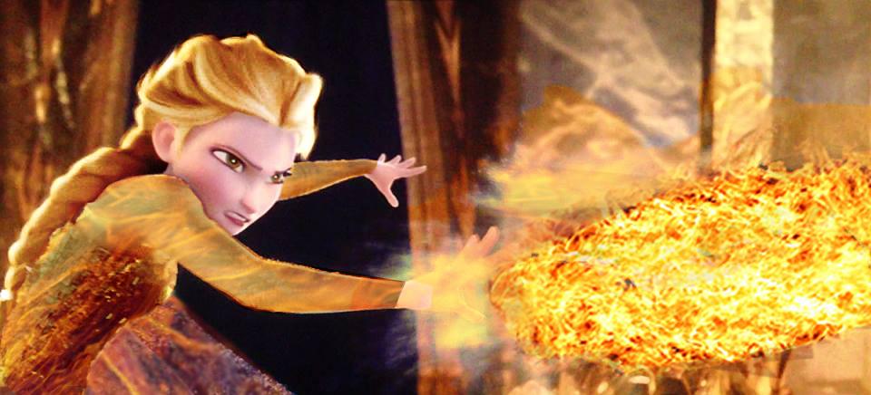 Fire Elsa figthing by fantasydreamtima