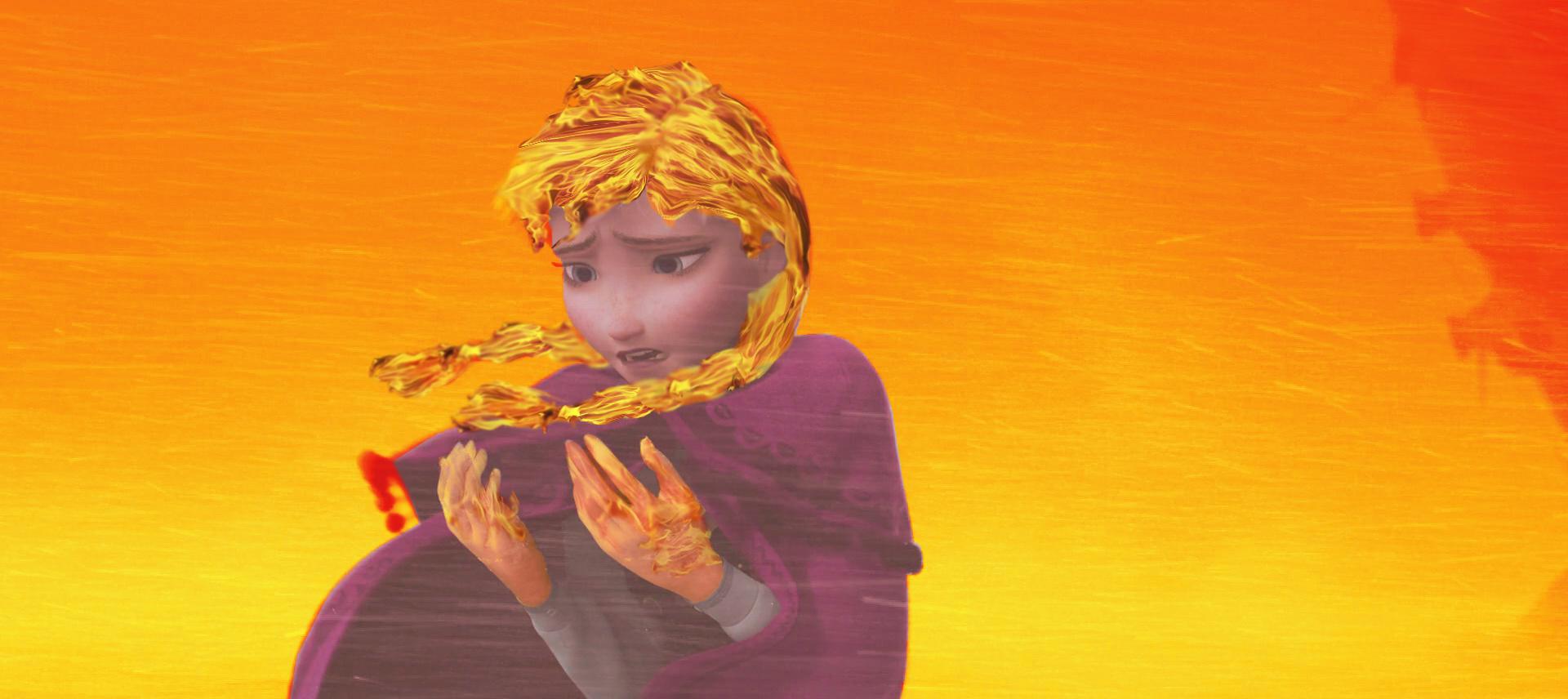 Fantasydreamtima Fire Elsa Anna Turning Into By