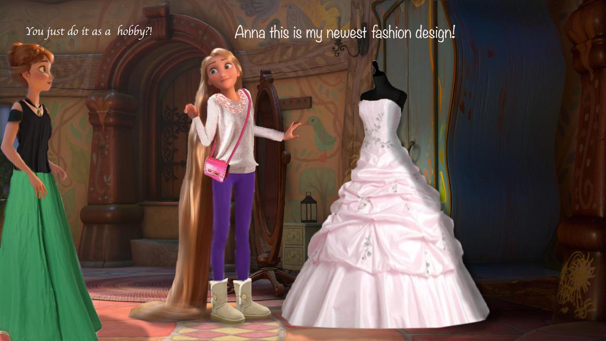 Modern Rapunzel+Anna by fantasydreamtima