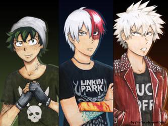 Bnha - Punk Boys by fantasydreamtima