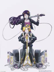 Kamijirou: Lightning And Thunder [Colored] by fantasydreamtima