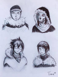 [Tribal AU] Other characters by fantasydreamtima