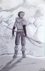 [Tribal AU] Todoroki (Sketch) by fantasydreamtima