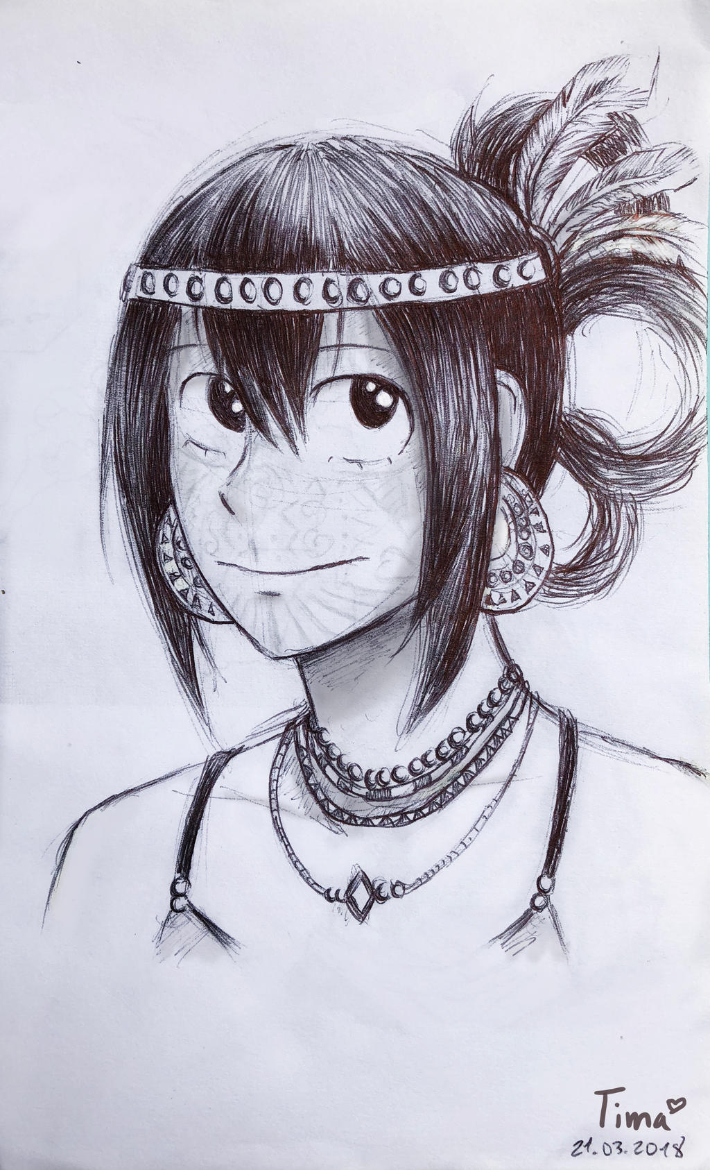 Tribal Au Tsuyu Asui Sketch By Fantasydreamtima On Deviantart