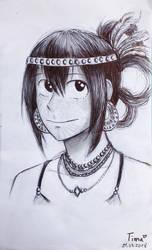 [Tribal AU] Tsuyu Asui (sketch) by fantasydreamtima