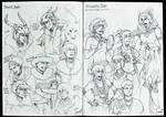 Sketchbook entry #23 BNHA Tribal AU