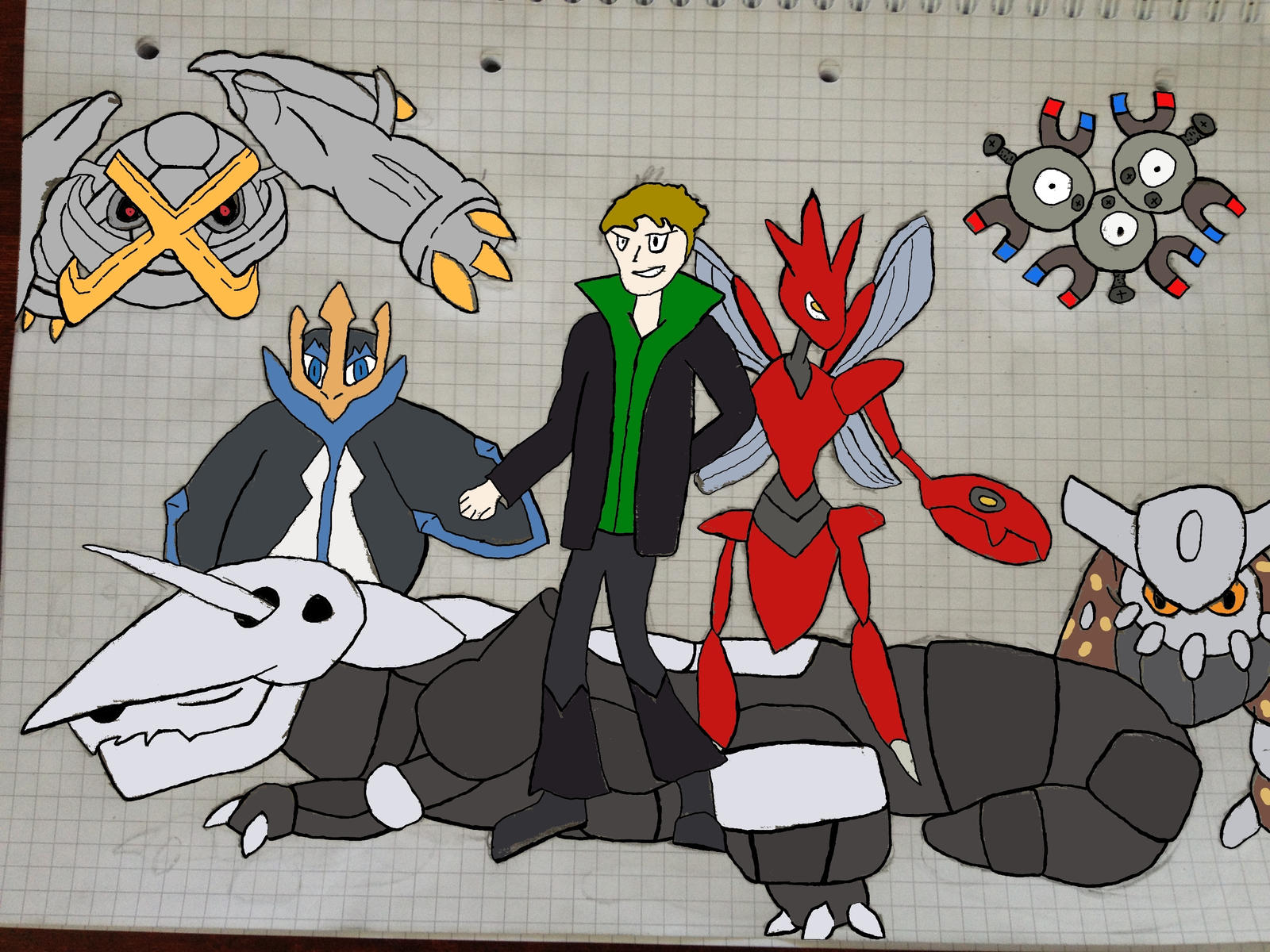 Uncategorized Steel Pokemon my steel pokemon team gen 5 colerd by zack 4310 on deviantart 4310