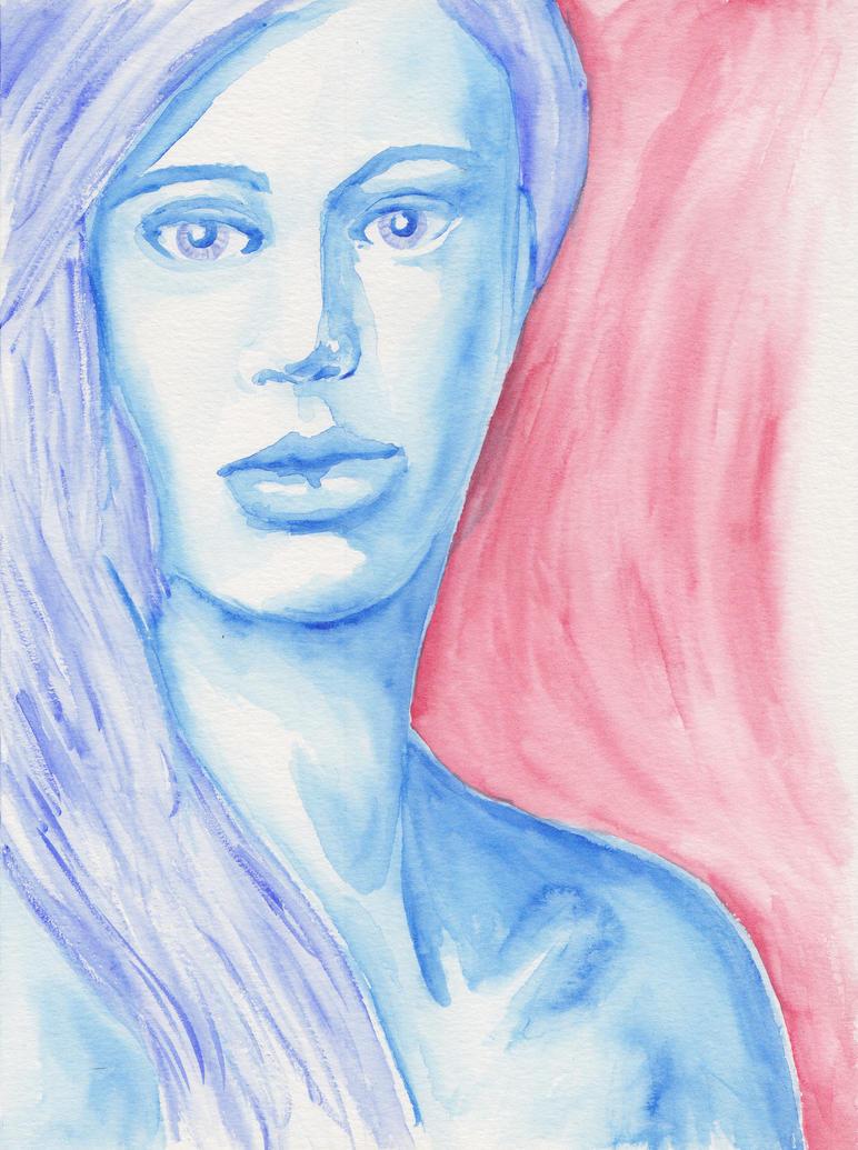 Blue Face by artificus