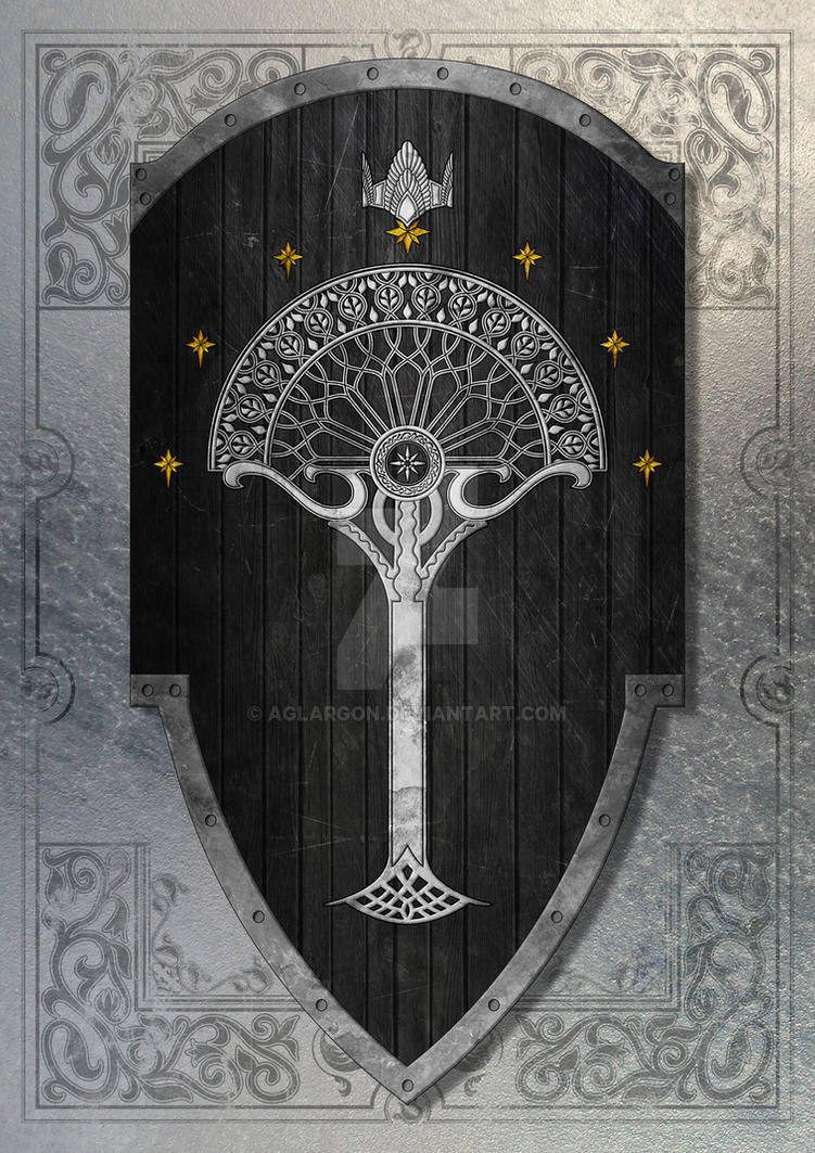 2nd Age Gondorian Shield by Aglargon