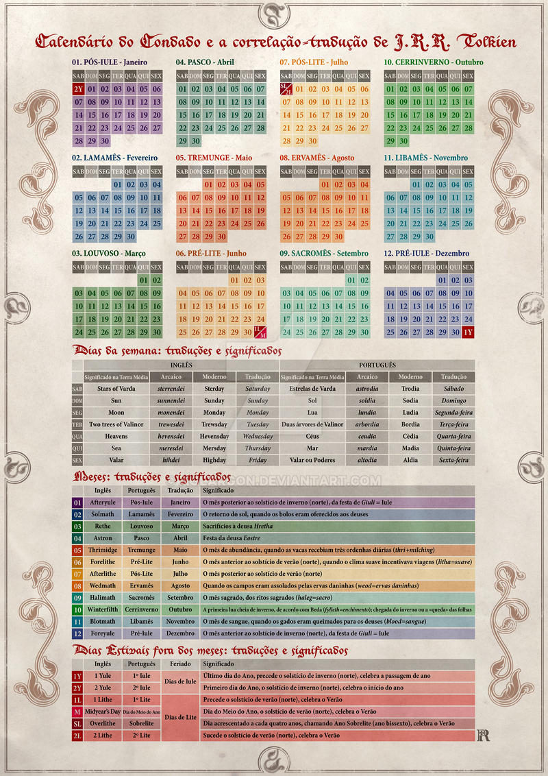 Shire Calendar: correlation-translation by Tolkien by Aglargon on ...... Shire Calendar: correlation-translation by Tolkien by Aglargon
