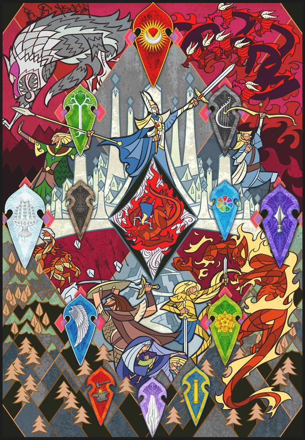 The Fall of Gondolin by Jian Guo and Aglargon by Aglargon