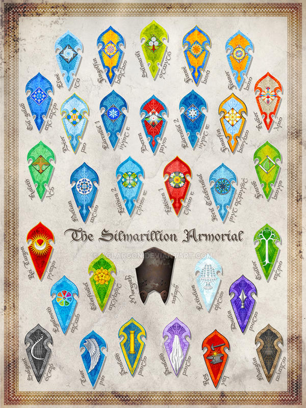 The Silmarillion Armorial Complete by Aglargon