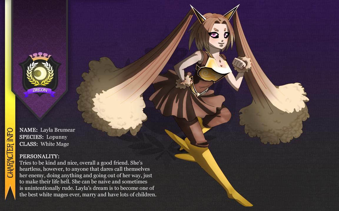 Layla - Lopunny Gijinka by Paper-Rabbit