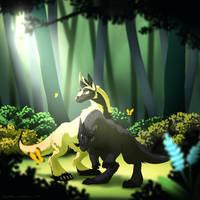 (Kukuri) Is it here? - Kael and Aradia by Paper-Rabbit