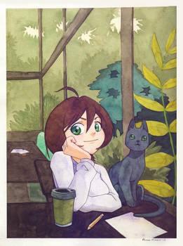 (Fanart) Miki's Smile - Watercolor