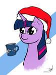 Twilight enjoys a winter tea