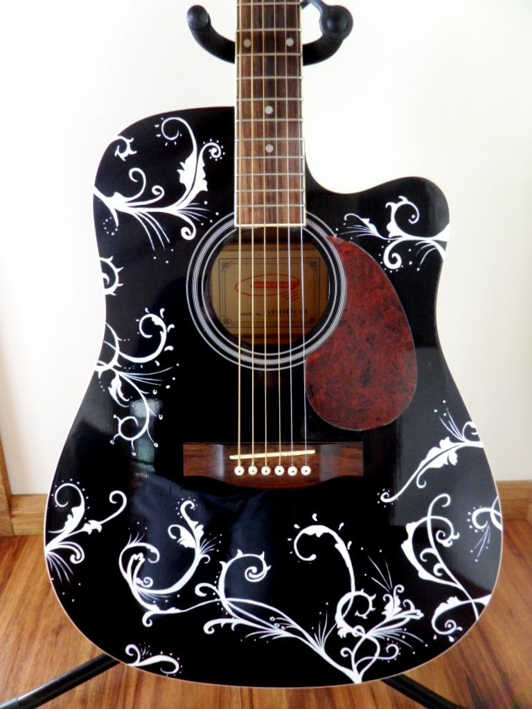 Guitar Designs Art : Guitar art on pinterest painted guitars and