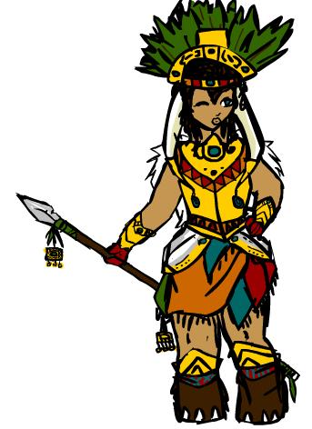 Aztec Lady Knight by Izziebobs