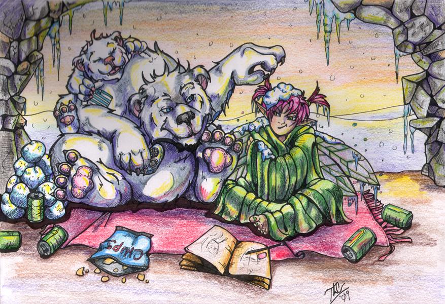 'The Den'-Polar Babies by LadySaishan