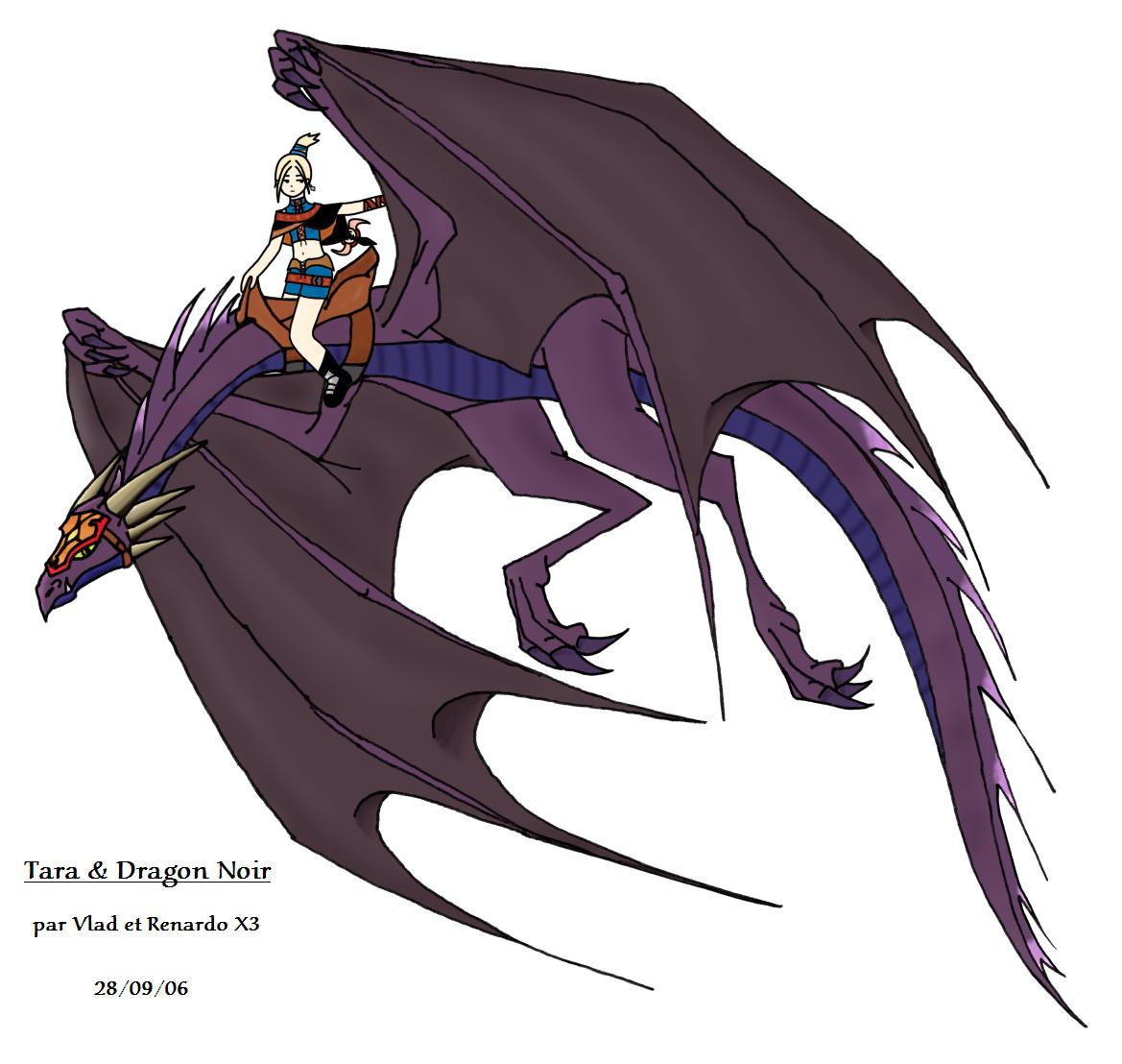 Tara and Black Dragon by Vlad-GS