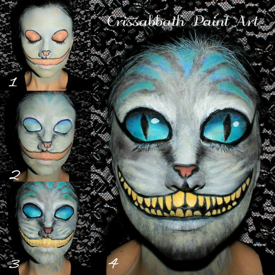cheshire cat make up by crissabbathpaintart on deviantart. Black Bedroom Furniture Sets. Home Design Ideas