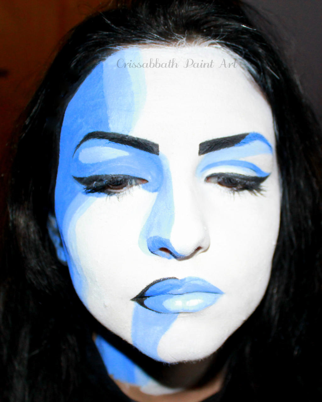 Pop Art Face Painting by CrissabbathPaintArt