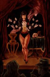 Zatanna Noir by kmillerillustration