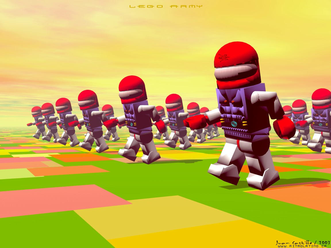 Lego Army by rlcwallpapers