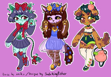 Price Reduced! Anthro Adopts -2/3 OPEN- by JadeKingfisher