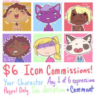 OPEN Icon Commissions!
