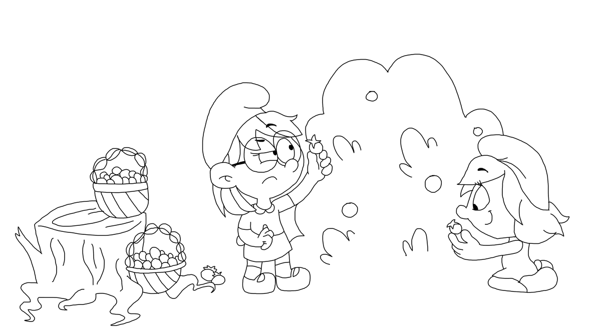 Collecting smurfberries - collab by TheBluBerry