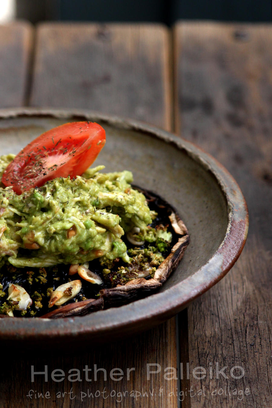 Roasted Portabella and Avocado Chicken Salad by hpdphotos