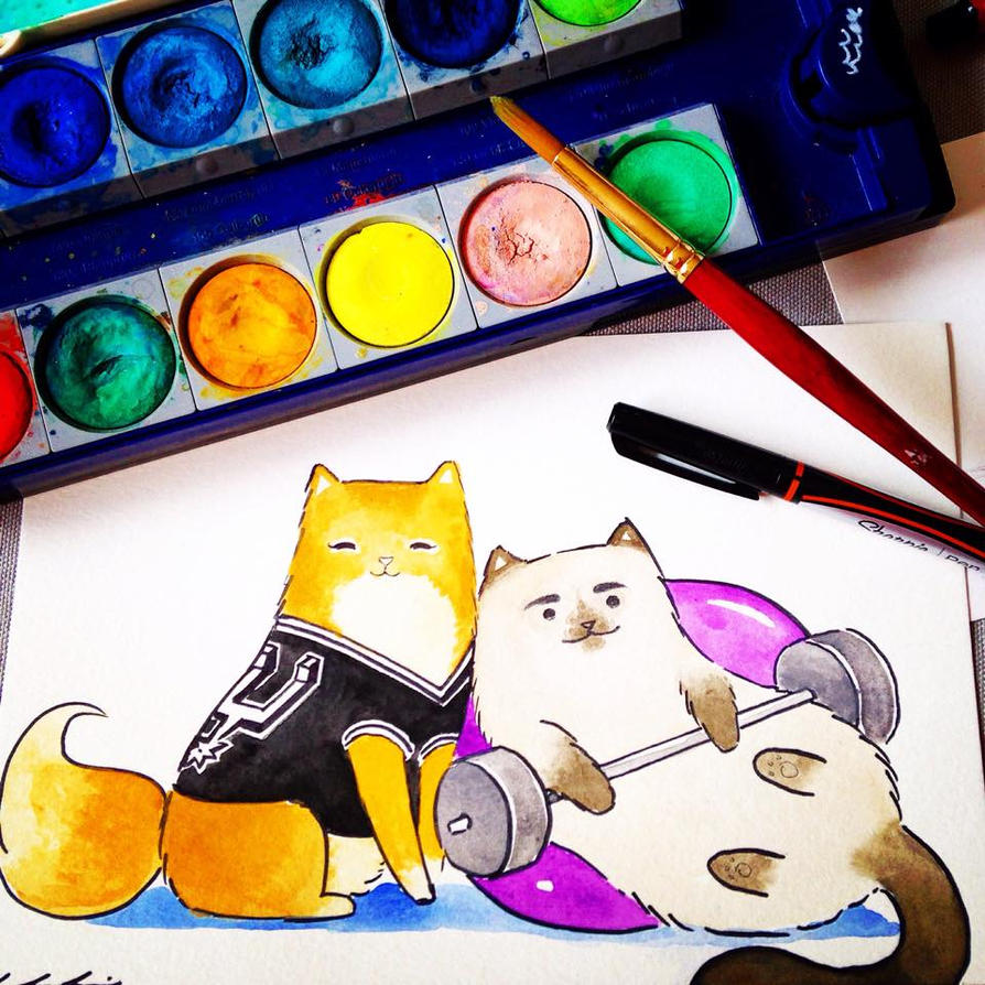 Cats by lululinart