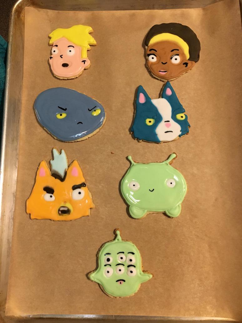 Final Space Cookies!!!! by Spyruto99
