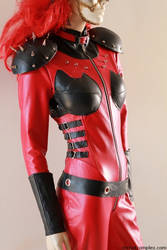 Dollface Twisted Metal Leather Catsuit Cosplay