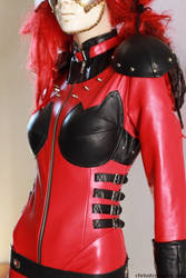 Cosplay Dollface Twisted Metal Leather Catsuit