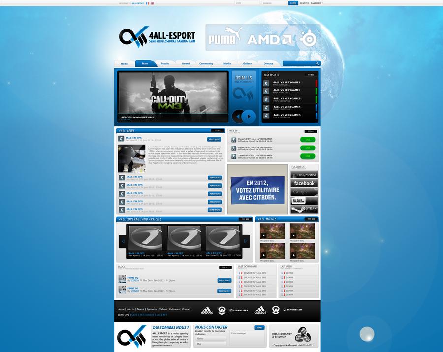 Webdesign Gaming Blue#1 by zenox75 on DeviantArt