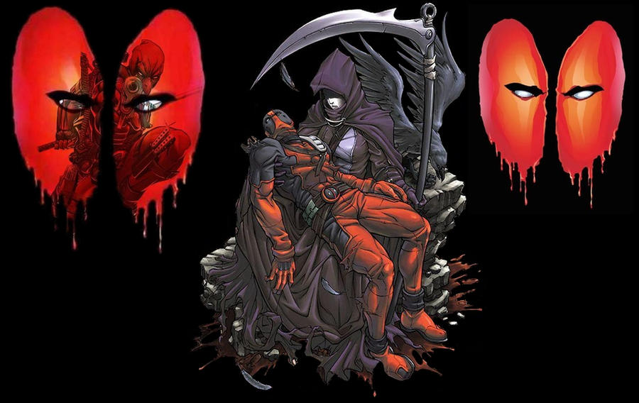 Deadpool And Death Wallpaper