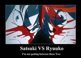 Satsuki VS Ryuuko by neogoki