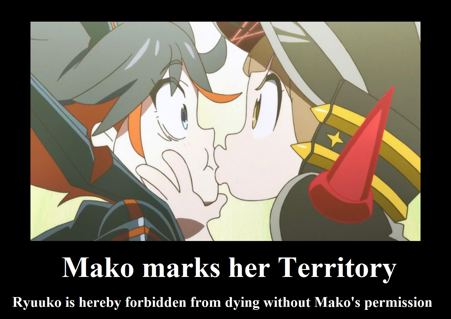 Absolute Mako Field by neogoki on DeviantArt Ryuko X Mako Kiss