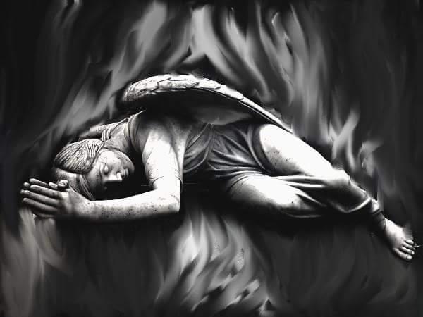 Fallen angel's prayer by brokenwings34