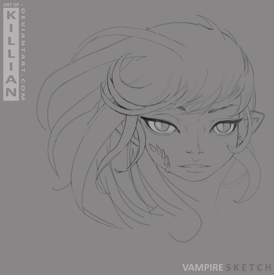 Vampire SKETCH by ArtofKillian