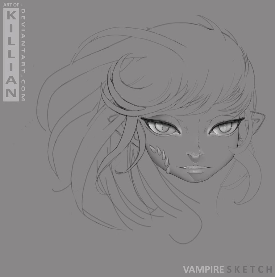 Vampire SKETCH 2 by ArtofKillian