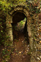 Castle passage by NickiStock
