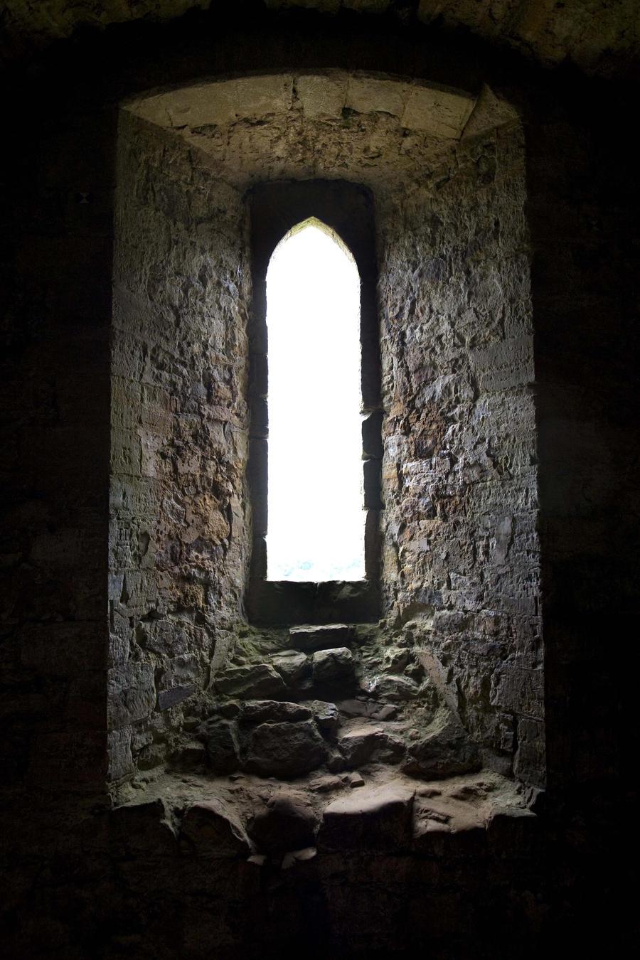 Window Seat - Castle Ruins by NickiStock