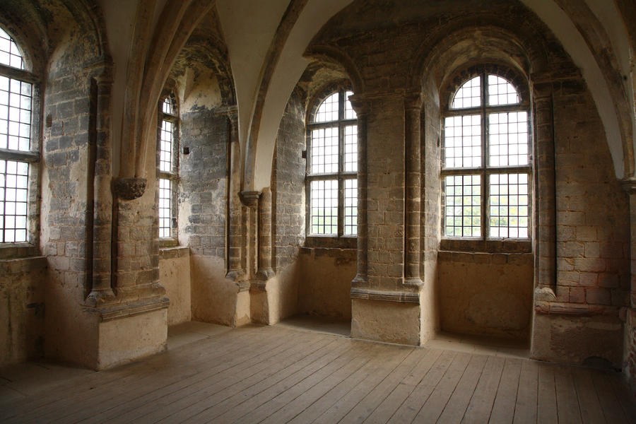 Gothic castle room by nickistock on deviantart for Castle interior designs