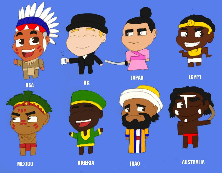 International Chibis by BrandonSPilcher
