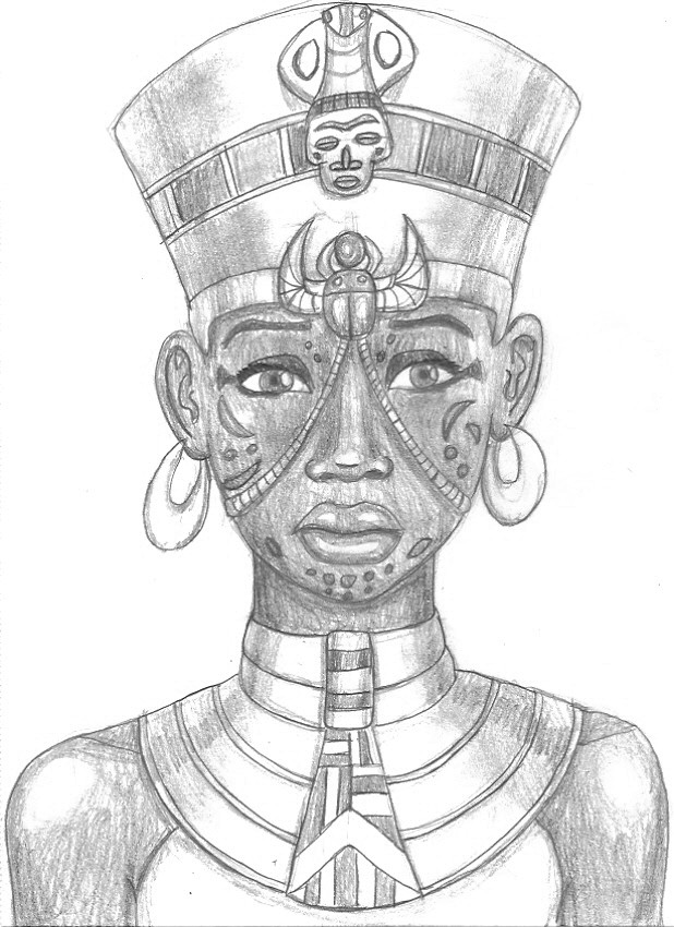 egyptian queen drawing - photo #5