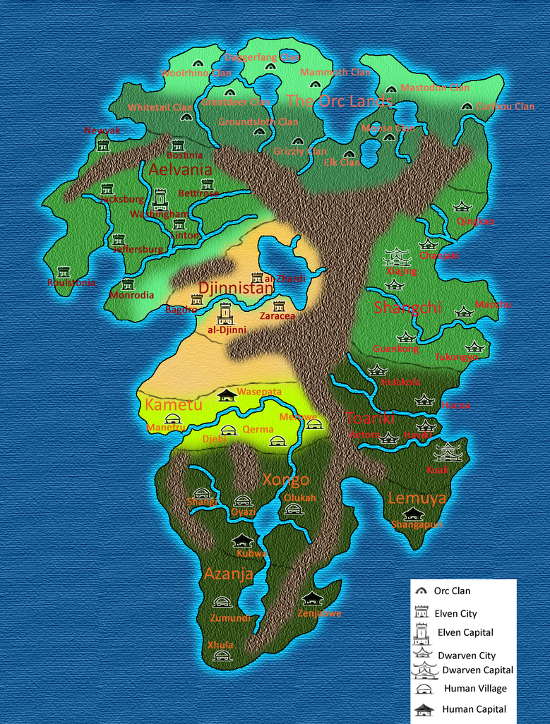 The Continent of Four Races by BrandonSPilcher